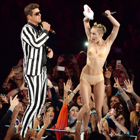 Miley Cyrus' Blurred Lines underwear