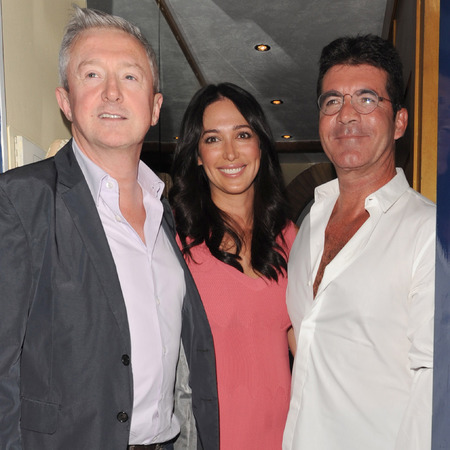 Simon Cowell with Lauren Silverman and Louis Walsh in London