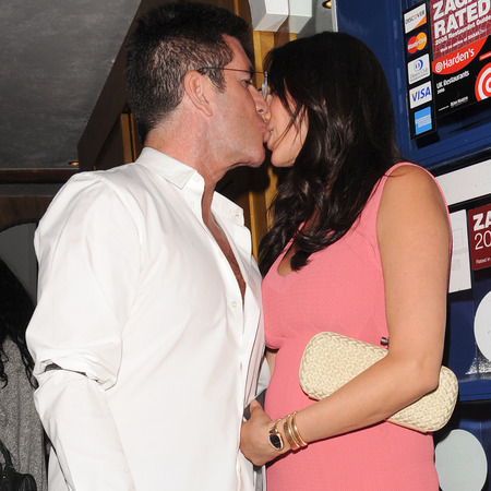 Simon Cowell and Lauren Silverman in London