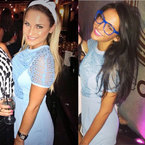 FASHION FIGHT: Michelle Keegan & Sam Faiers in Topshop
