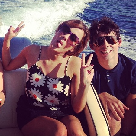 Caroline Flack and Matt Richardson at X Factor judges' houses