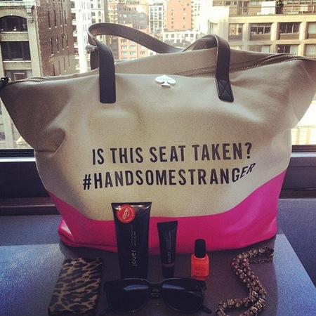 Kate Spade Jour Cosmetics handbag essentials NYFW SS14