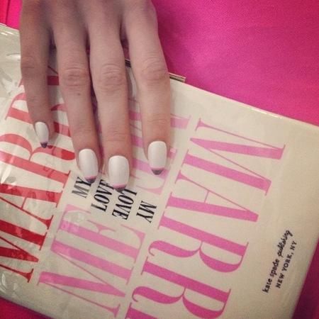 Nails by deborah lippman at Kate Spade NYFW SS14