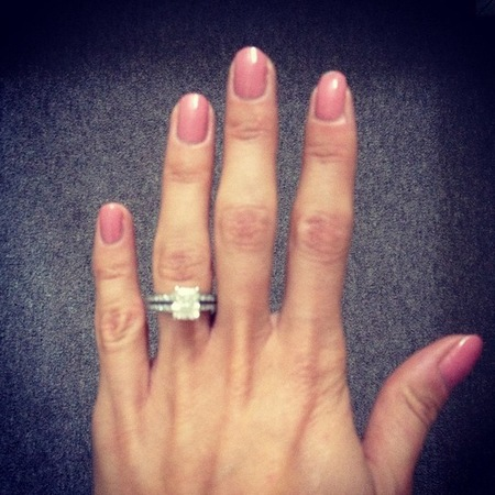 Millie Mackintosh's pink rose nails