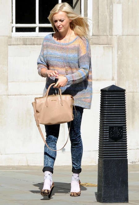 Fearne Cotton AW13 Miu Miu madras leather handbag