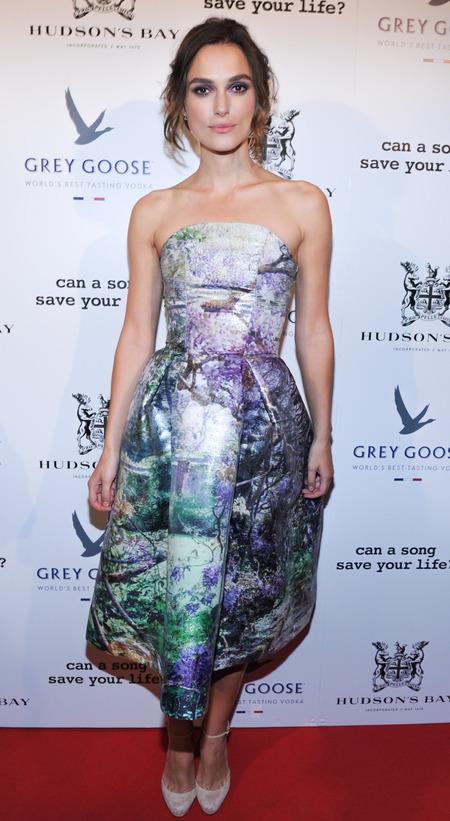 Keira Knightly in Mary Katrantzou dress at Toronto Film Festival 2013