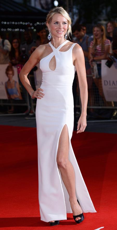 Naomi Watts leads Diana world premiere in side-split Versace