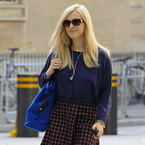 Fearne Cotton steps out in new season Very skirt