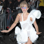 Lady Gaga becomes human bubble machine in London