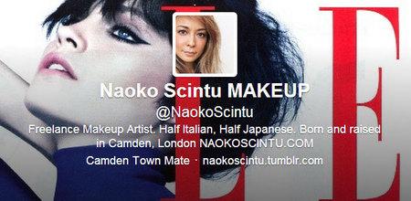 Naoko Scintu Make-up Millie Mackintosh Twitter Handle