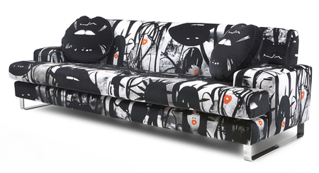 Giles Deacon graphic print sofa