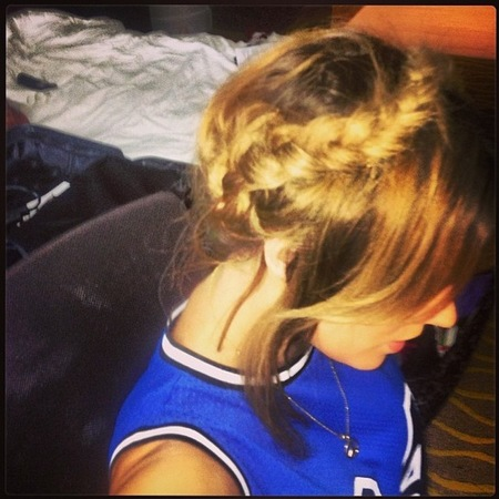 Caroline Flack braided up do, Judges Houses, X Factor 2013