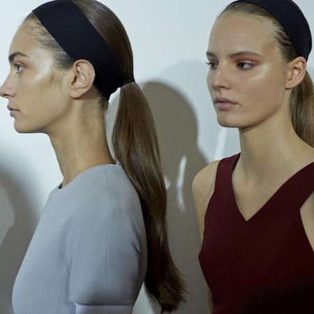 Victoria Beckham models NYFW SS14