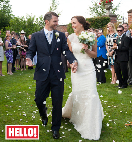 Olympic champion Victoria Pendleton marries Scott Gardner in Suzanne Neville gown