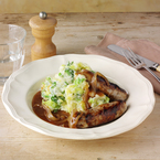 Posh sausage and mash recipe