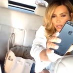 Blonde Kim Kardashian's Drake singalong video