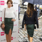 FASHION FIGHT: Zoe Hardman & Lydia Bright in leather