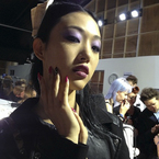 LFW SS14: Maybelline plays with purple at PPQ