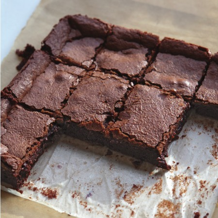 Easy chocolate brownie tray bake recipe