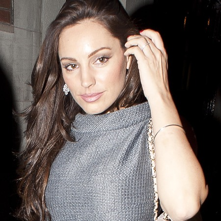 Kelly Brook with hair extensions in London