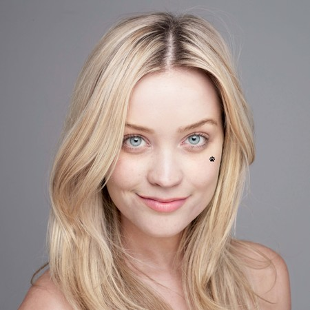 Laura Whitmore no makeup for Children In Need BearFaced 2013 campaign