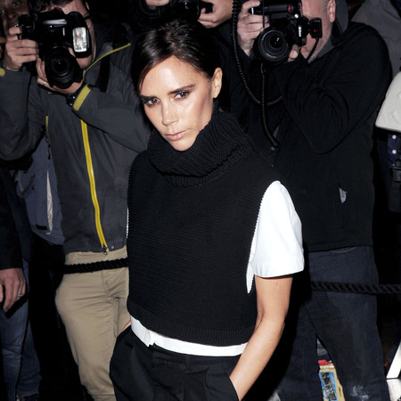 Victoria Beckham arrives at Vogue dinner during London Fashion Week
