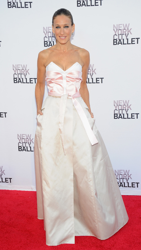 Sarah Jessica Parker in Prabal Gurung and Olivier Theyskens at New York Ballet Gala