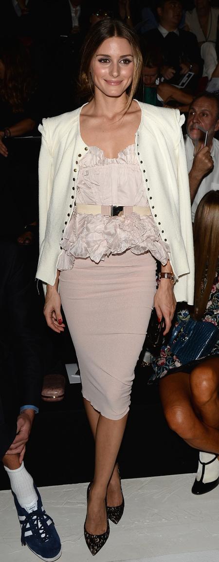 Olivia Palermo's ruffled blouse