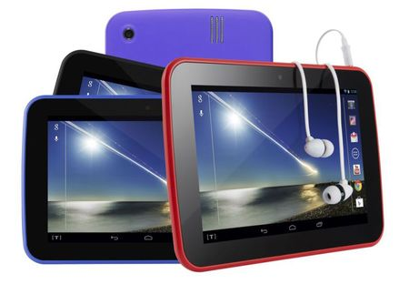 Tesco Hudl in red and purple