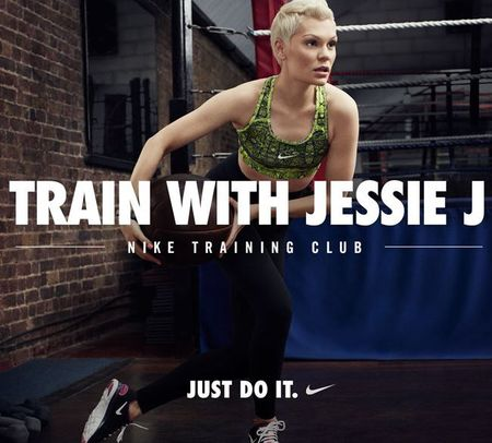 Jessie J Nike training two week fitness challenge