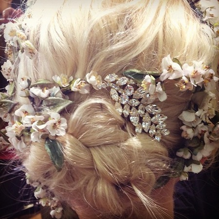 Hair at Dolce & Gabbana SS14 MFW