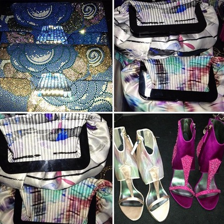 Giorgio Armani SS14 handbags at Milan Fashion Week