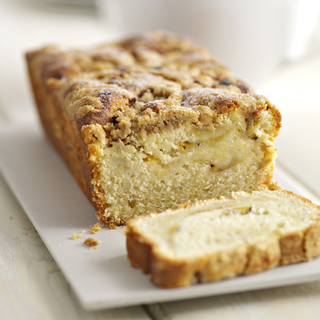 Gooseberry & Apple Streusel Loaf Cake