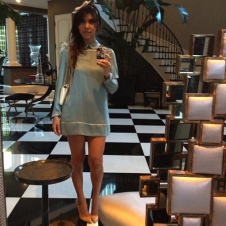 Kourtney Kardashian Instagram, alice in wonderland dress