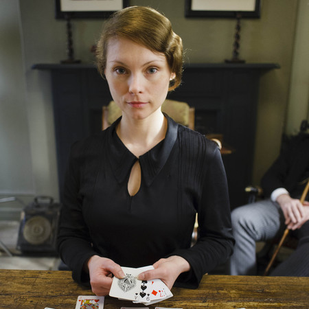 MyAnna Buring as Edna in Downton Abbey series 4