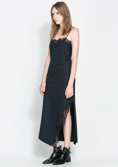Tartan maxi dress from Zara, as worn by Laura Whitmore