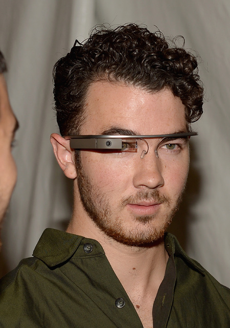 Kevin Jonas at Lincoln Center - Day 1 - Mercedes-Benz wearing Google Glass