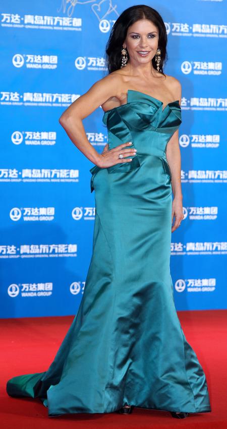 Catherine Zeta-Jones on red carpet in China