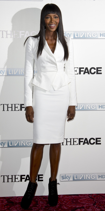 Naomi Campbell at The Face launch