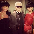 Karl Lagerfeld's Fendi hairstyle. Would you?