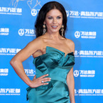 Catherine Zeta-Jones is glamorous in blue gown