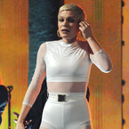 Jessie J in daring white bodysuit for iTunes festival