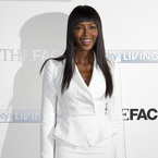 Naomi Campbell in white for The Face