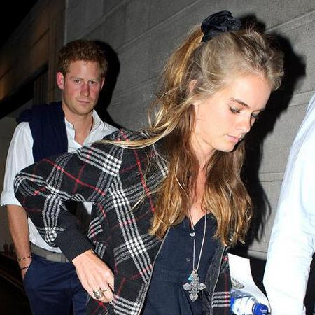 Cressida Bonas and Prince Harry at The Book Of Mormon