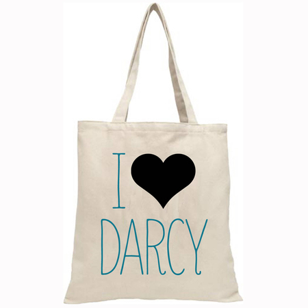Mr Darcy canvas bag