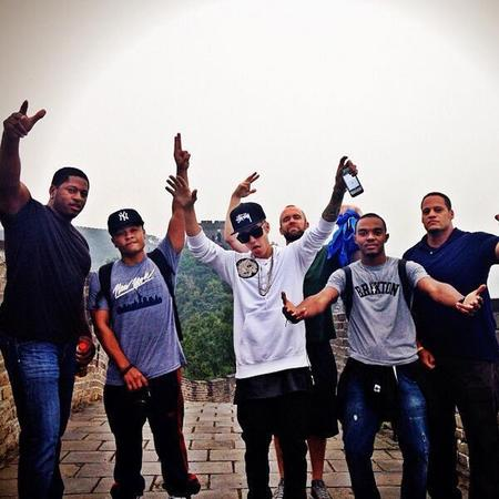Justin Bieber on the Great Wall of China