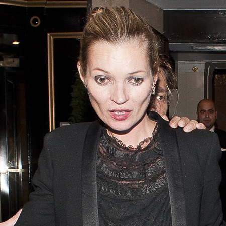 Kate Moss looking rough in london