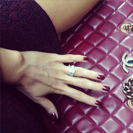 Millie Mackintosh autumn manicure on Instagram