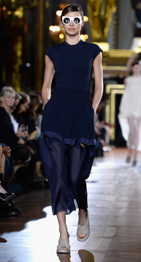 Miranda Kerr on the runway at Stella McCartney Paris Fashion Week SS14