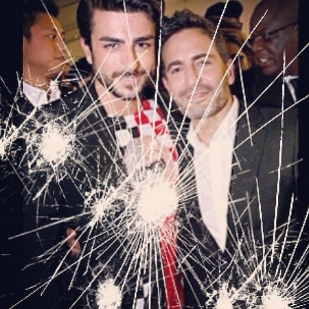 Harry Louis announces Marc Jacobs break up - instagram smashed screen filter - handbag.com